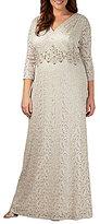 Alex Evenings Plus Lace Column Gown