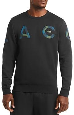 Lacoste Camo-Letter Crewneck Sweatshirt