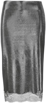Ermanno Scervino metallic midi pencil skirt