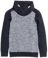 H&M Chimney-collar Sweater - Dark blue/white - Kids