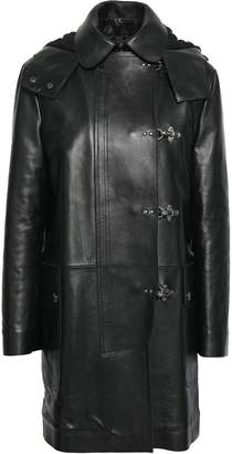 RED Valentino Leather Hooded Coat