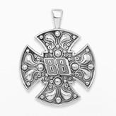 "Insignia Collection NASCAR Dale Earnhardt Jr. Sterling Silver ""88"" Maltese Cross Pendant"