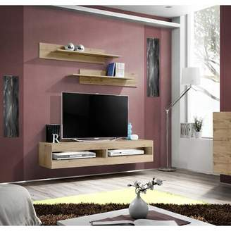 Fly London Orren Ellis Modular Floating TV Stand for TVs up to 70 inches Orren Ellis Color: Oak