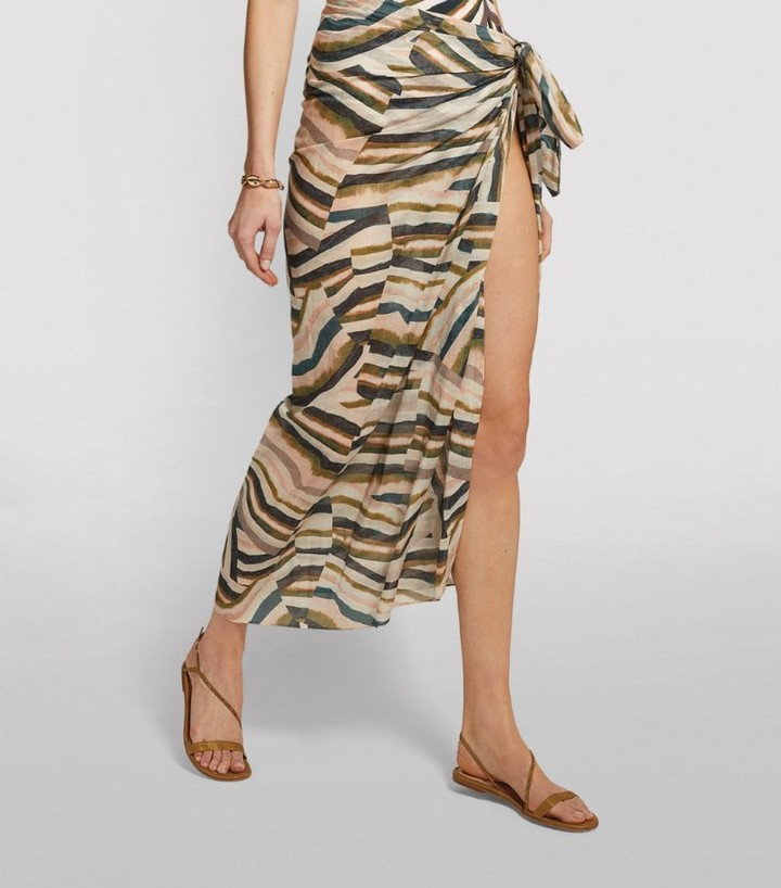 On The Island Agonda Tie-Front Sarong