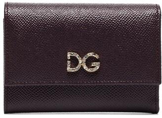 Dolce & Gabbana Crystal-Embellished Logo-Plaque Wallet