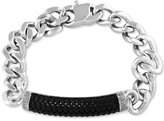 Effy Men's Black Sapphire Linked Bracelet in Sterling Silver