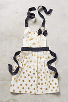 Anthropologie Gold Polka Dotted Kid's Apron