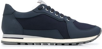 Canali Two-Tone Low-Top Sneakers