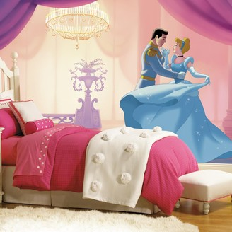 """Mural Roommates Disney Princess Cinderella """"So This Is Love"""" XL 7-piece Wall Decal"""