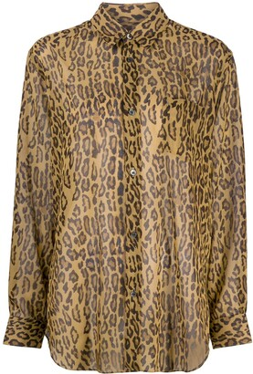 Junya Watanabe Loose-Fit Leopard Shirt