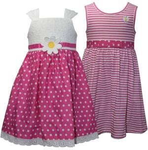 Blueberi Boulevard Baby Girls 2-Pack Pink & White Sundresses