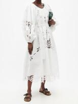 Thumbnail for your product : RIANNA + NINA Kendima Broderie-anglaise Cotton Midi Dress - Multi