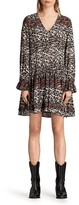 AllSaints Alia Juba Printed Silk Dress