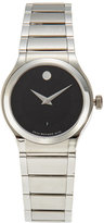 Movado 0606493 Silver-Tone & Black Watch