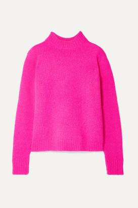 Tibi Cozette Neon Alpaca-blend Sweater - Fuchsia