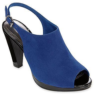 PeepToe Liz & Co.® Vesta Slingback Peep-Toe Mules