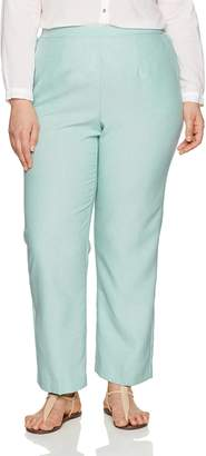 Alfred Dunner Women's Plus Size Med Pant Back Elastic Side Pockets