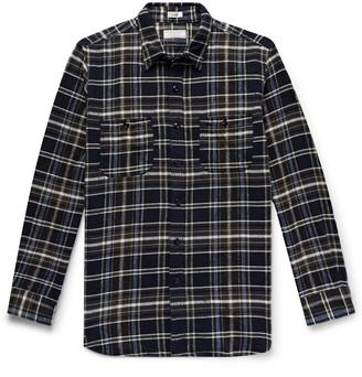 J.Crew Checked Slub Cotton-Flannel Shirt