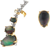 Alexis Bittar Crystal-Encrusted Climber & Stud Earring Set, Mother-of-Pearl