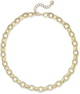 Charter Club Gold-Tone Pavé Link Statement Necklace, Only at Macy's