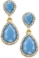 INC International Concepts Pavé Colored Stone Drop Earrings, Only at Macy's