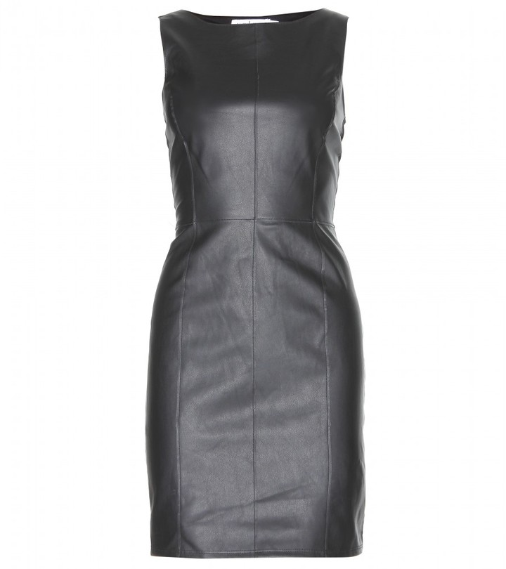 Velvet MARJORY FAUX LEATHER AND JERSEY DRESS