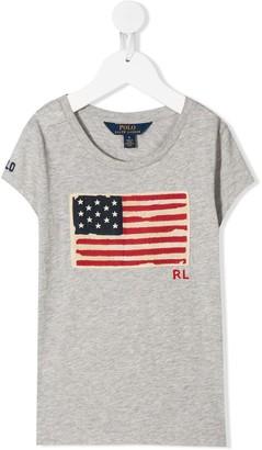 Ralph Lauren Kids american flag print T-shirt