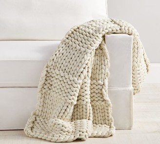 Pottery Barn Colossal Chunky Hand-Knit Throw