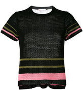 RED Valentino colour panel knitted top - women - Cotton - XS