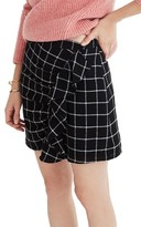 Madewell Women's Windowpane Ruffle Front Miniskirt