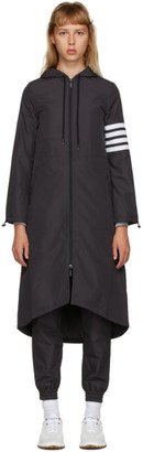 Thom Browne Black Flyweight Tech 4-Bar Hooded Parka