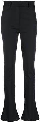 Ssheena Slim-Fit Flared Hem Trousers