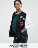 Asos Bomber With Badges