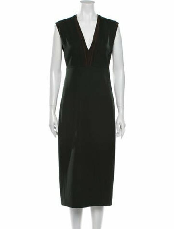 Narciso Rodriguez Barathea Knee-Length Dress Green