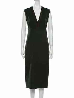 Narciso Rodriguez Barathea Knee-Length Dress Green