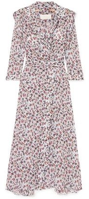 Chloé Scalloped Floral-print Georgette Maxi Wrap Dress