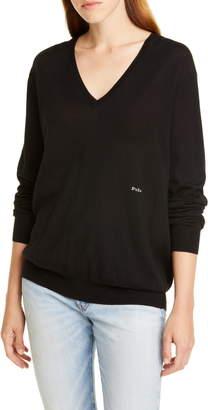 Polo Ralph Lauren V-Neck Wool, Silk & Cashmere Sweater