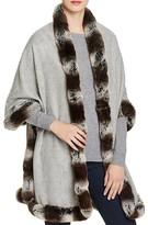 Badgley Mischka Faux Fur Trim Wrap