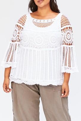 XCVI Pastoral Crochet Lace Blouse