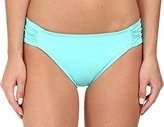 LaBlanca La Blanca Women's Island Goddess Side Shirred Hipster Bikini Bottom