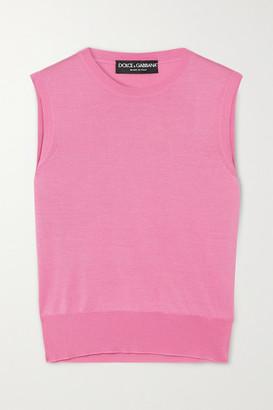 Dolce & Gabbana Silk Tank - Pink