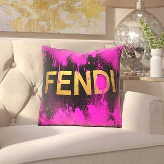 Fendi House of Hampton Brigida Throw Pillow House of Hampton