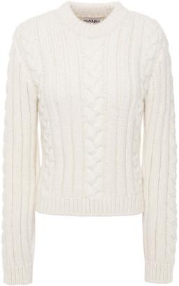 Ganni Cable-knit Alpaca-blend Sweater