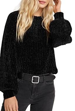 Bella Dahl Balloon-Sleeve Chenille Sweater