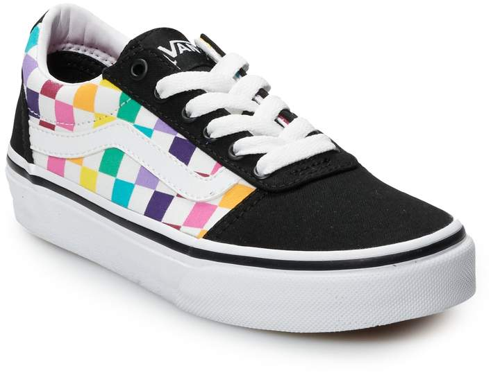 7ca3f2e9 Ward Girls' Rainbow Checkered Skate Shoes