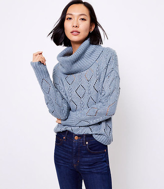 LOFT Shimmer Bobble Turtleneck Sweater