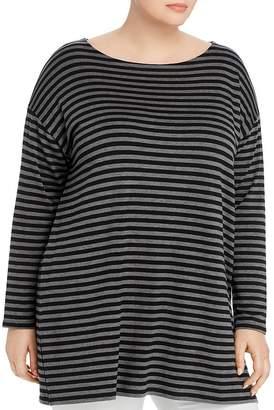 Eileen Fisher Plus Striped Tunic Tee