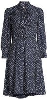 Rebecca Taylor Blurry Heart Silk Dress