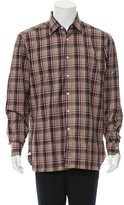 Isaia Plaid Button-Up Shirt w/ Tags