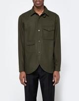 Han Kjobenhavn Army Shirt in Green